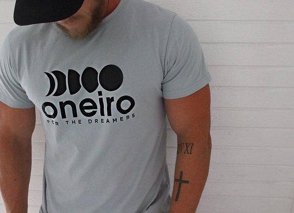 ONEIRO-T Dusty Blue/Black logo