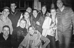 Friendly locals we met that night