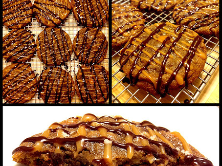 Hopperdoodles!  Chocolate Chip Bacon Toffee Salted Caramel Cookies