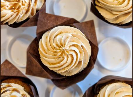 Banana Cupcakes, Bourbon Butterscotch, Peanut Butter Frosting
