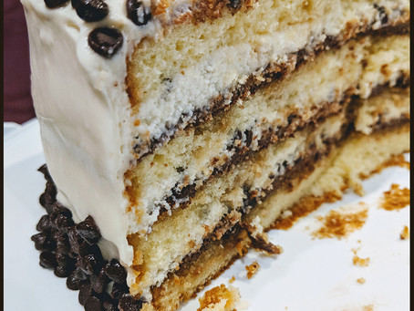 Chocolate Chip Cannoli Cake