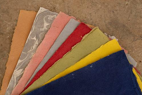 Papel de fibra de fique colores surtidos