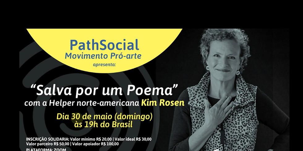 """Gravação do evento """"Salva por um Poema"""" com a helper americana Kim Rosen"""
