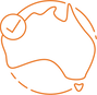 Illustrative icon of Australia for Nationally Recognised heading