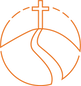 Illustrative icon of the sign of the cross for christ centred heading