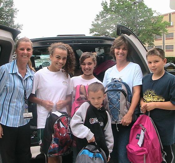 Delivering Backpacks to Johns Hopkins