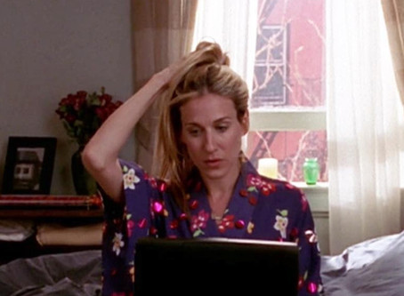 Carrie Bradshaw: Homeoffice Icon