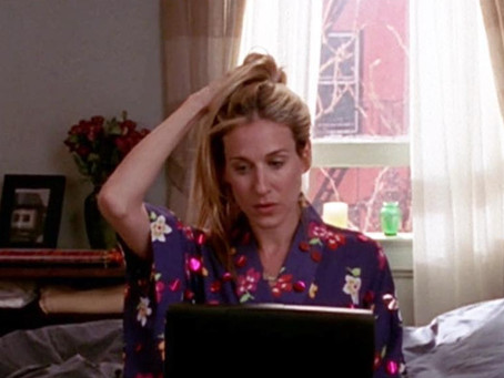 Carrie Bradshaw: Homeoffice Icon