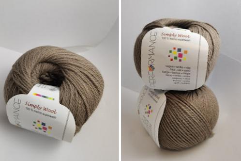 Simply wool  superwash   Brown