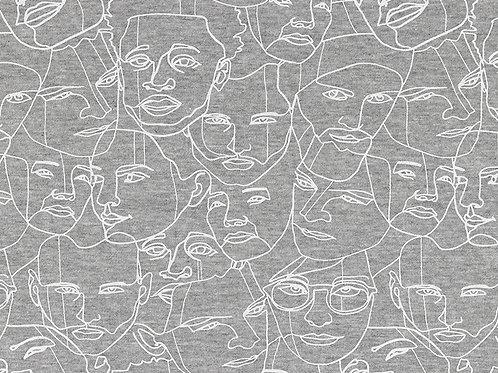 Line Art Faces Sweatshirting
