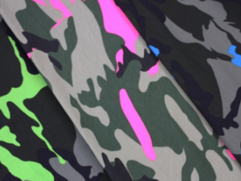 Camouflage Fluorescent Cotton Jersey.