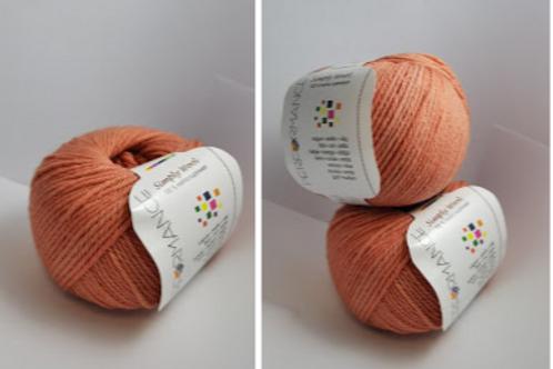 Simply wool 100% merino superwash-  orange nr 17