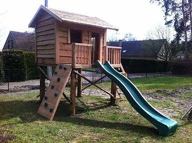 Speeltoestel Kleine Tuin : Houten speeltoestel tuin boomhut boris