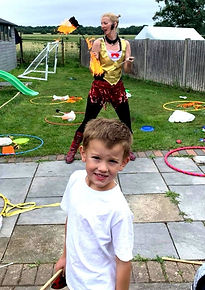 Noah and Lily fire birthday party July 2
