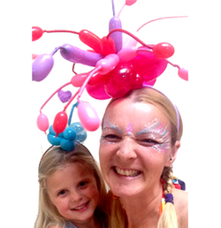 lily and elsie balloon fascinator white.