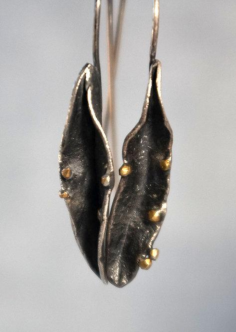 Nature Inspired Pod Earrings -Medium