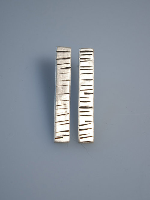 Textured Bar Earrings