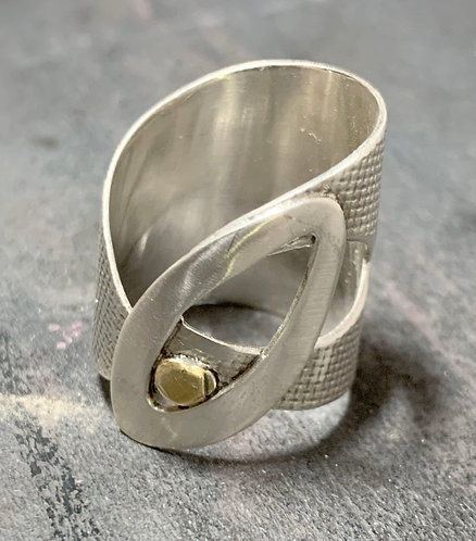 Fused Gold Wrap Ring