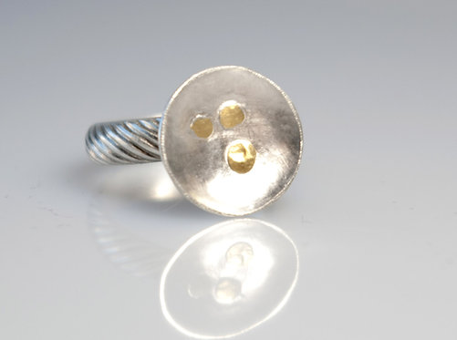 Fused Gold Disc Ring