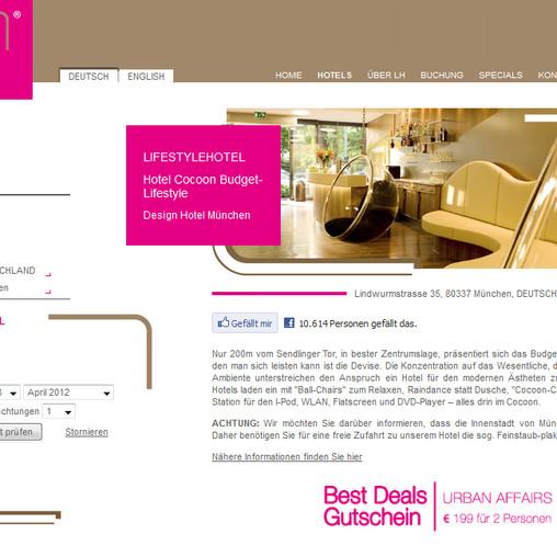 Hotel Cocoon bei lifestylehotels.net
