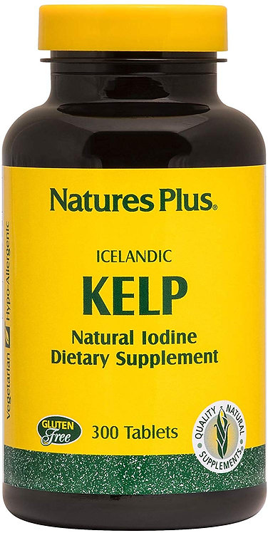 150 mcg of natural iodin Supports optimal iodine level.