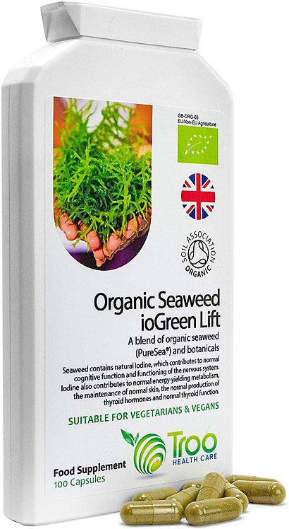 Organic Seaweed ioGreen Lift Kelp Supplement Complex - 100 Capsules | Source of