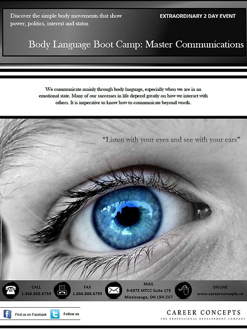 Master Communications - Body Language Boot Camp