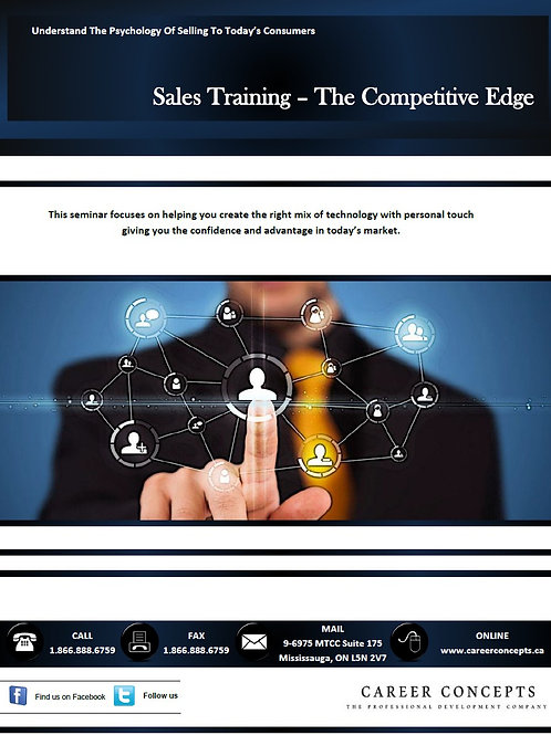 Sales Training - The Competitive Edge