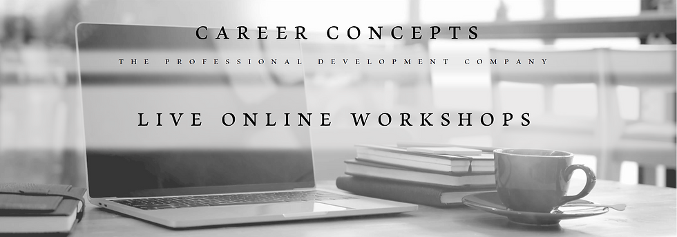 Career Concepts Live Workshops
