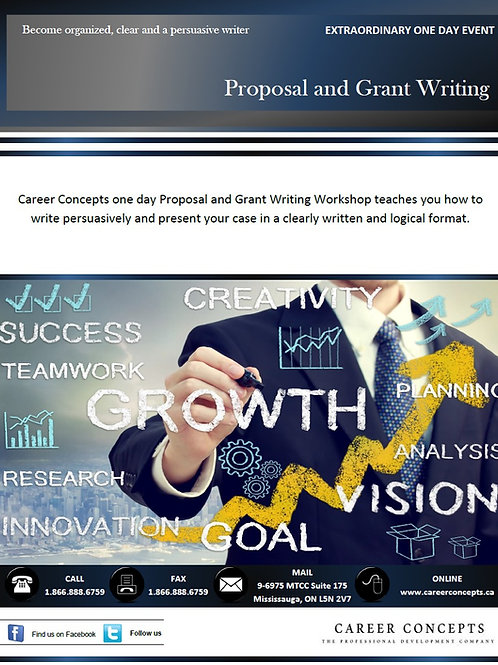 Proposal and Grant Writing