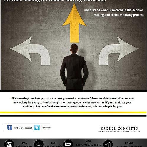 Decision Making & Problem Solving Workshop