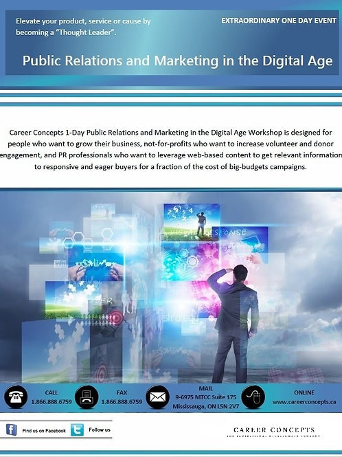 Public Relations and Marketing in the Digital Age