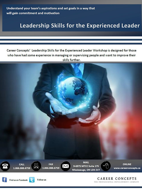 Leadership Skill for the Experienced Leader