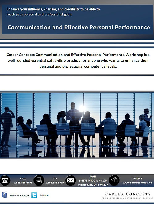 Communication and Effective Personal Performance