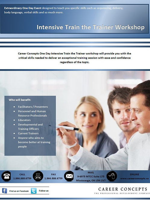 Intensive Train the Trainer Workshop
