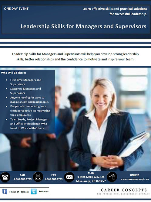 Leadership Skills for Managers and Supervisors