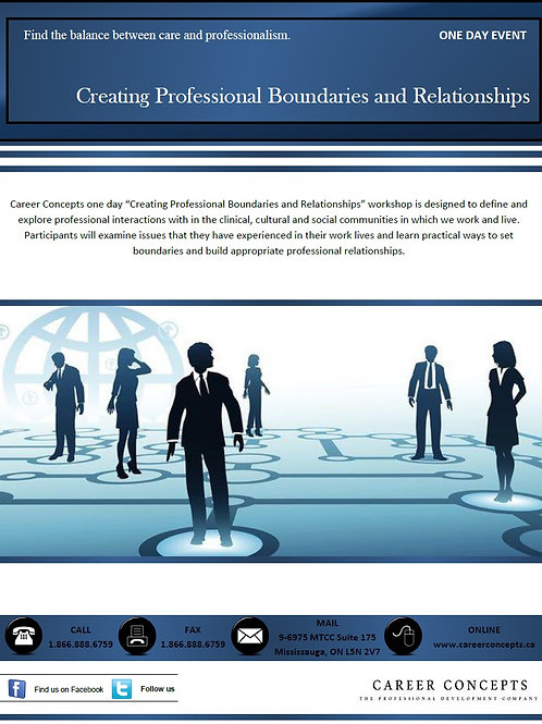 Creating Professional Boundaries and Relationships