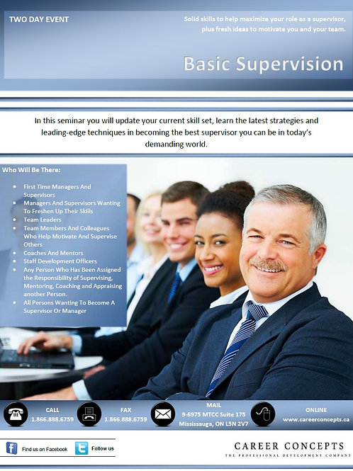 Basic Supervision - Two Day Event