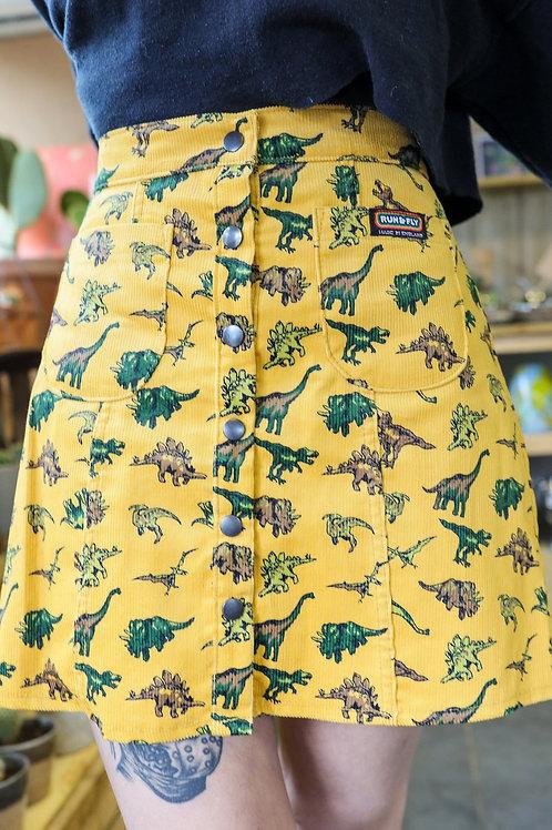 Random dinosaur corduroy skirt by Run & Fly