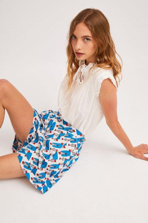 Sardine Print Shorts