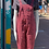 Thumbnail: Pink Leopard Stretch Twill Dungarees