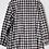 Thumbnail: Oversized black/white check shirt