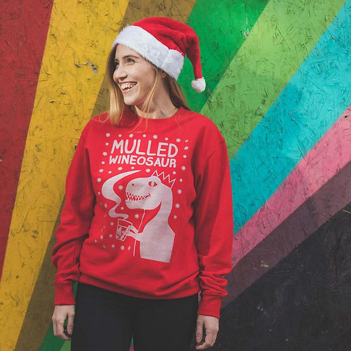 Mulled Wineosaur Xmas sweatshirt