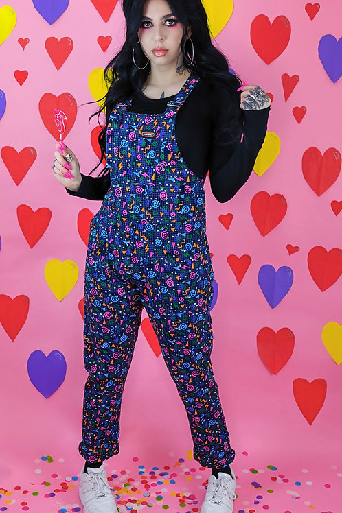 Memphis grid stretch twill dungarees