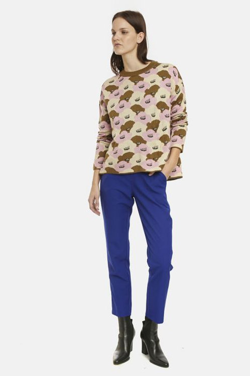Large water lily print jumper