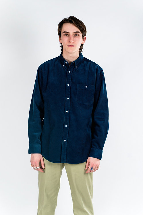 Chunky cord shirt - Teal Blue