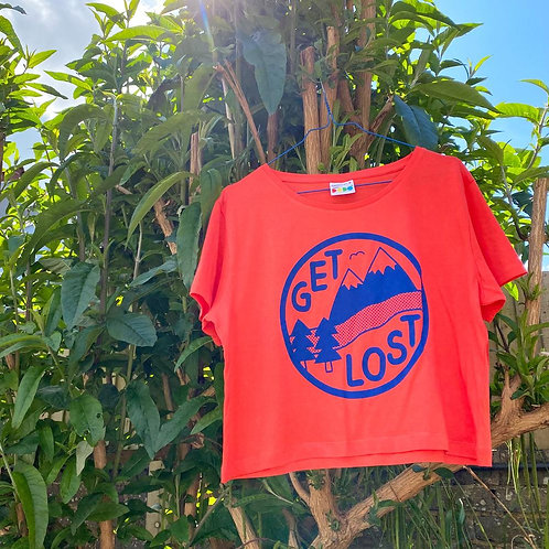 Get Lost cropped tee