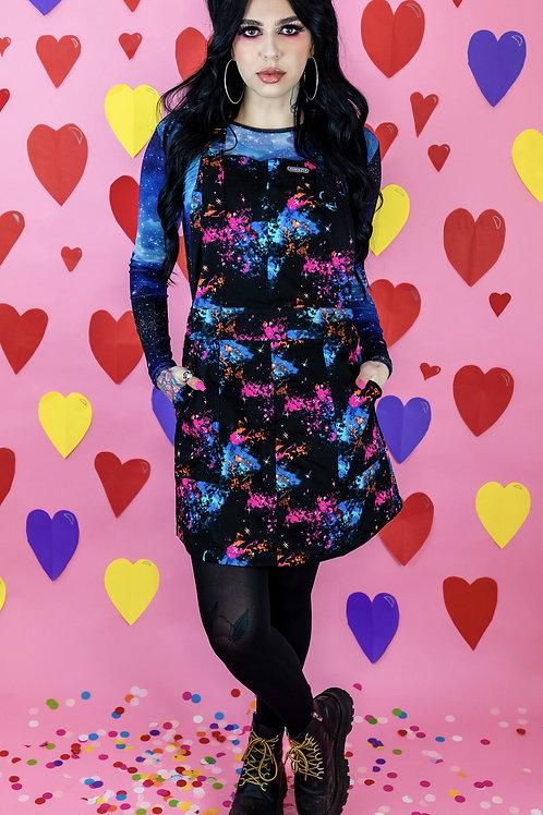 Galaxy Stretch Twill Pinafore Dress
