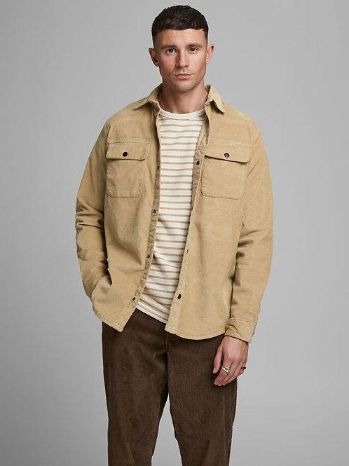Cord overshirt - beige/cornstalk