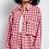 Thumbnail: Oversized red/white check shirt
